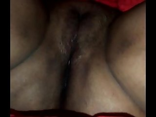 Sleeping aunties hairy pussy